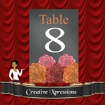Chalkboard Floral Table Number Package