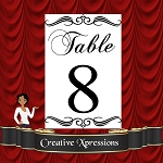 More Swirl Topper Table Number Package