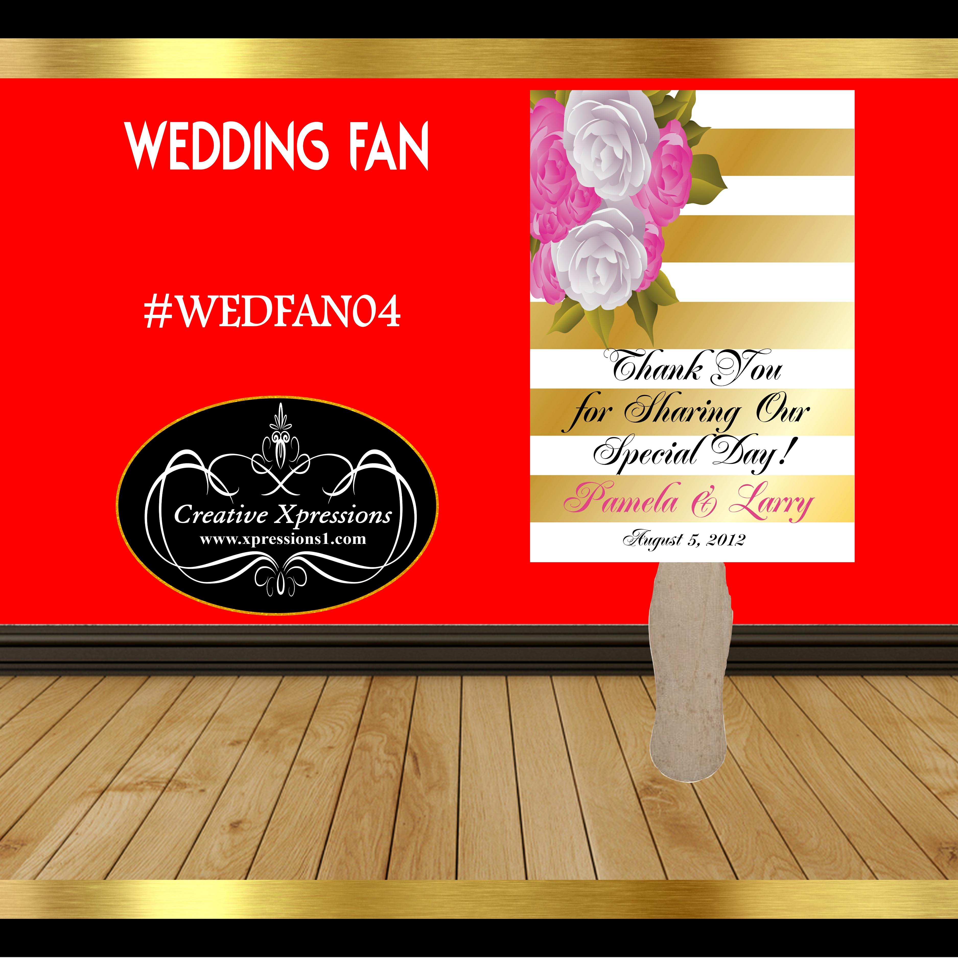 Corner Floral Wedding Fan