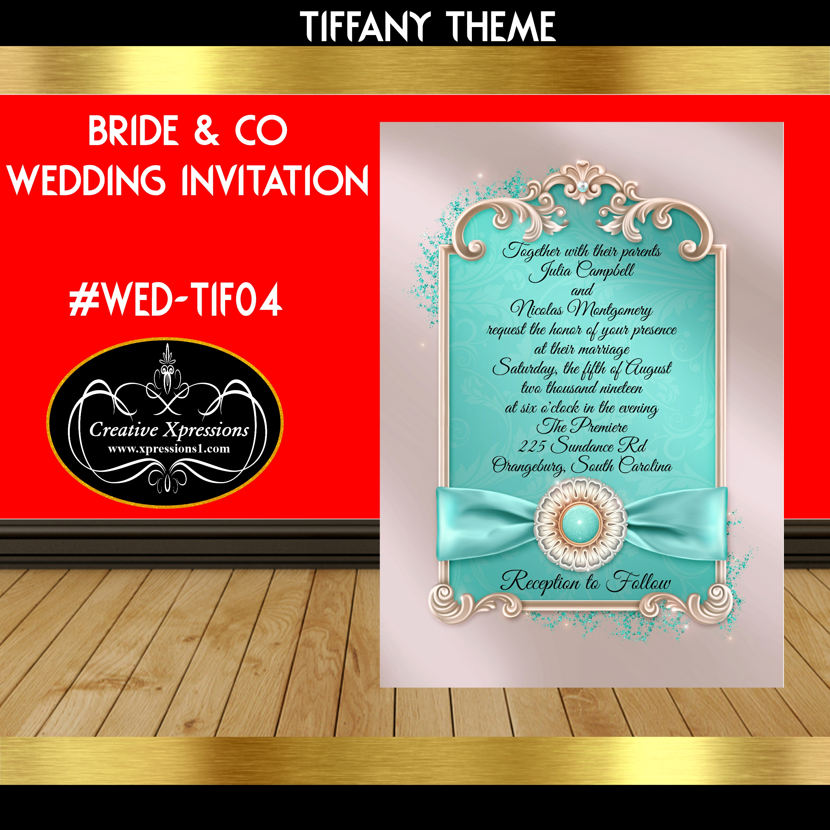 Tiffany Frame Wedding Invitation