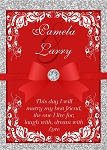 Red Ribbon Diamond Wedding Invitation