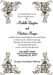Flowing Willow Wedding Invitation