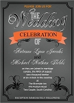 Orange Banner Wedding Invitation