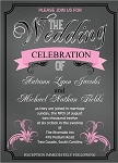 Perfect Pink Wedding Invitation