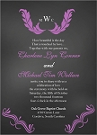 Chalkboard Monogram Wedding Invitation