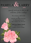 Peach Flower Wedding Invitation