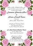 Pink Rosebuds Wedding Invitation