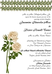 3 Bud Trio Wedding Invitation