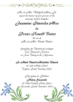 Metallic Blue Wedding Invitation
