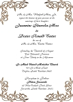 Brown Metal Floral Wedding Invitation