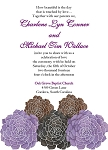 Purple Grouping Wedding Invitation