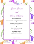 Simple Floral Wedding Invitation