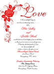 Red Love Wedding Invitation
