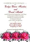 Wedding Rose Invitation