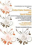 Orange and Choc Petals Invitation