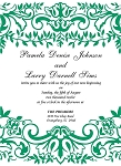 Full Floral Wedding Invitation