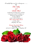 I Adore Roses Wedding Invitation