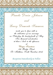 Teal Blue and Choc Invitation