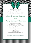 Damask and Stripes Invitation