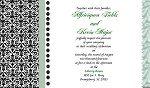 Lime Satin Waves Invitation