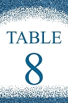Blue Ice Table Number Set
