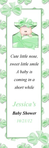 Baby in Green Box Bookmark