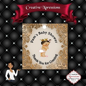Baby on Bronze Tag