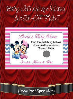 Baby Minnie and Mickey Scratch Off Tickets
