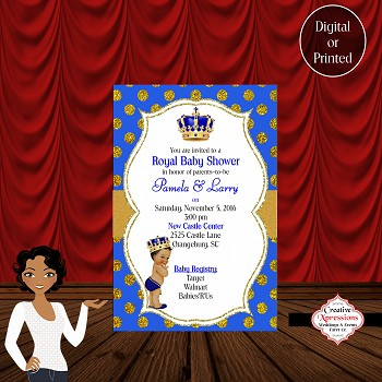 home baby shower invitations all invitations royal blue b
