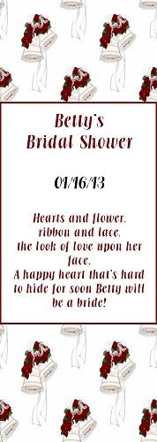 Bridal Shower Bookmark
