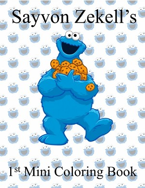 Blue Cookie Monster Coloring Book