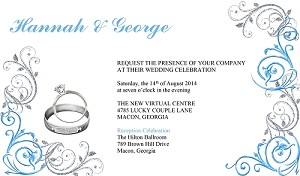 Bride and Groom Rings Wedding Invitation