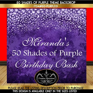 50 Shades of Purple Birthday Backdrop