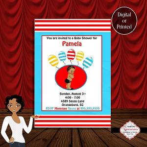 A Seuss Baby Shower Invitation