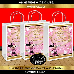 Thumbnailaspfileassets Images Children Birthday Backdrops Minnie Mouse Gift Bags Minie Giftbag01 Pink And Gold Bag Maxx300maxy0
